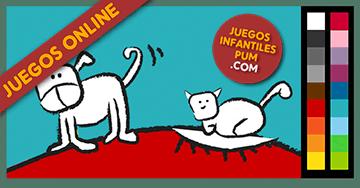 Dibujos Para Colorear Online Pintar Perro Y Gato Niños