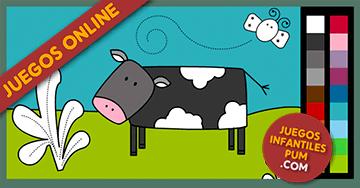 Dibujos para colorear online: Pintar animales en el campo. Niños