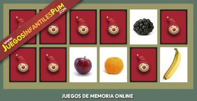 Juego De Memoria Con Frutas Para Niños